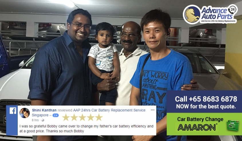 Fast Car Battery Replacement Service on 29 September 2017 @ Night with Facebook 5-Star Review