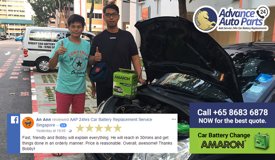 Fast Car Battery Replacement Service on 30 September 2017 @ 6:43pm with Facebook 5-Star Review
