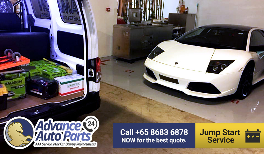 Urgent Jump Start Service for a Lamborghini Macielago on 13 November 2017 @ 1:49pm
