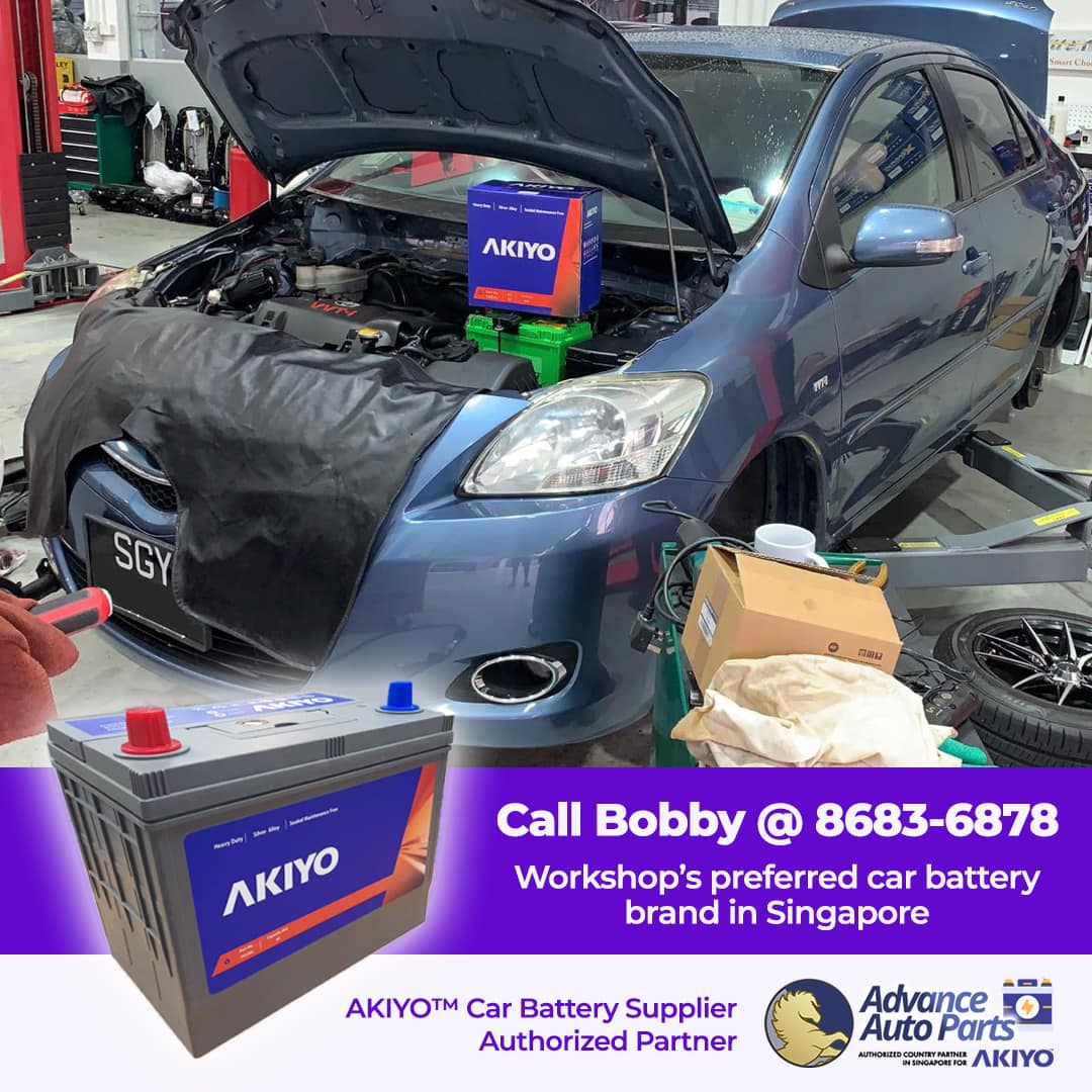 AKIYO™ Car Battery is Workshop's Preferred Car Battery Brand in Singapore
